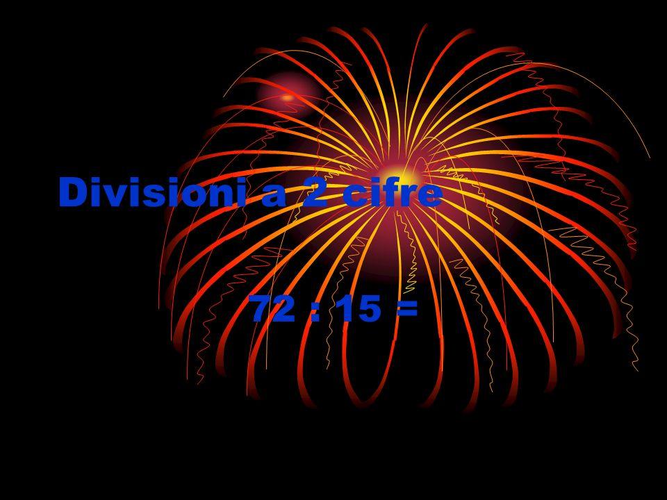 Divisioni a 2 cifre 72 : 15 =