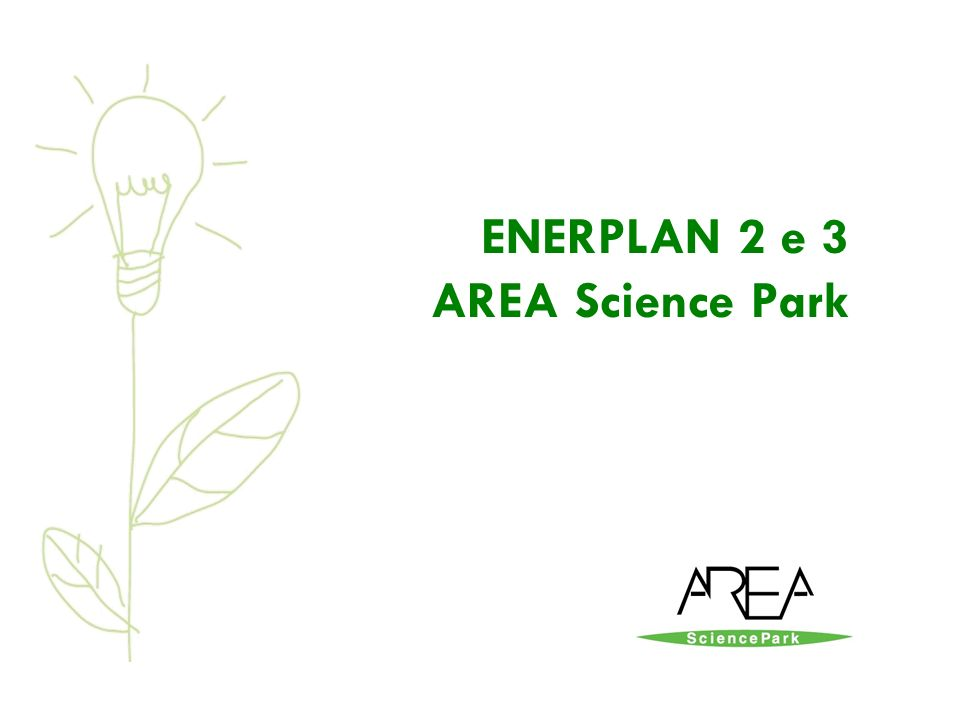 ENERPLAN 2 e 3 AREA Science Park