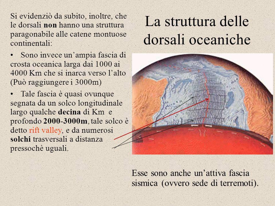 La dorsale medio-atlantica Era noto ai geologi, da oltre un secolo, che esiste una dorsale nel centro dellOceano Atlantico, la dorsale medio-atlantica