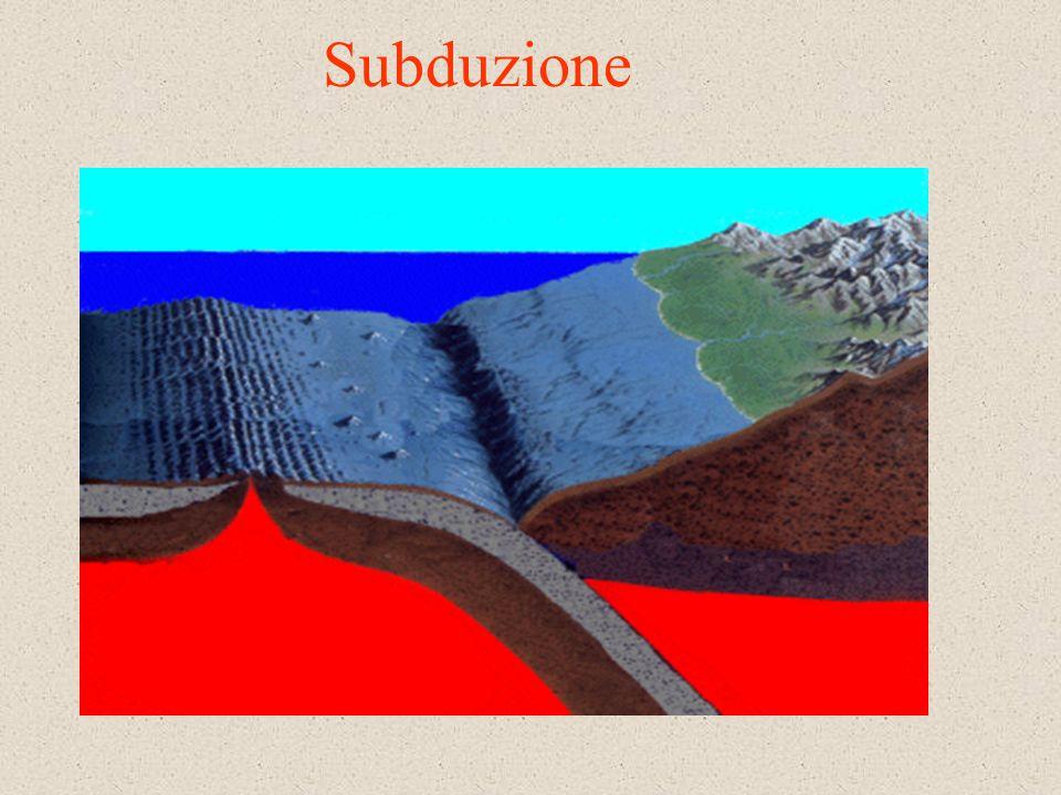 Le fosse di subduzione I fondali oceanici presentano anche le così dette fosse di subduzione Una fossa è una depressione del fondale oceanico relativa