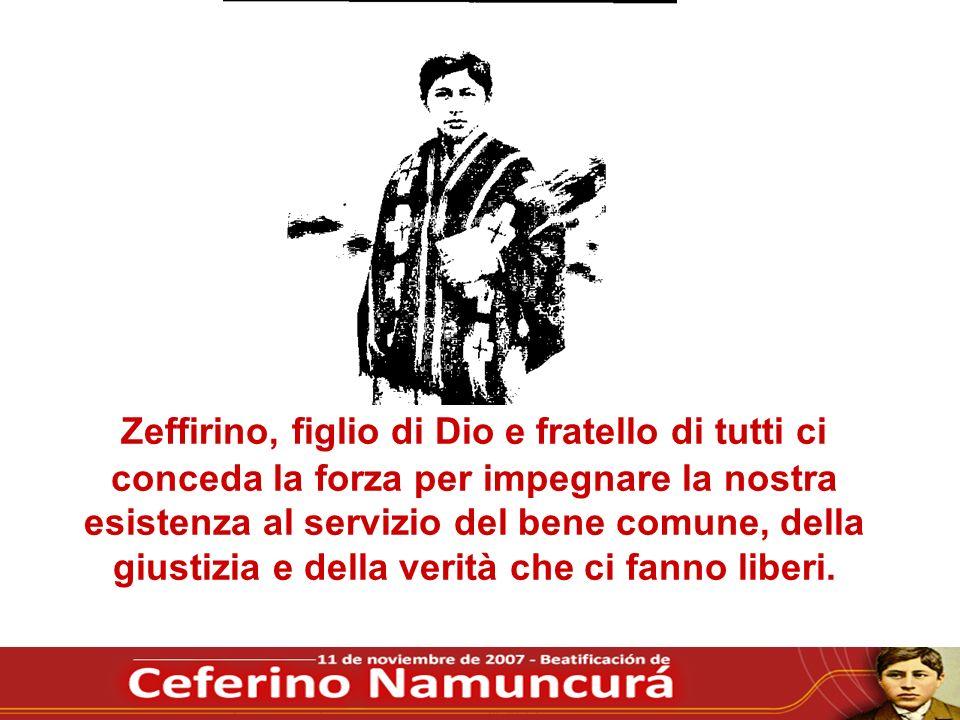 Zeffirino, figlio di Dio e fratello di tutti ci conceda la forza per impegnare la nostra esistenza al servizio del bene comune, della giustizia e dell