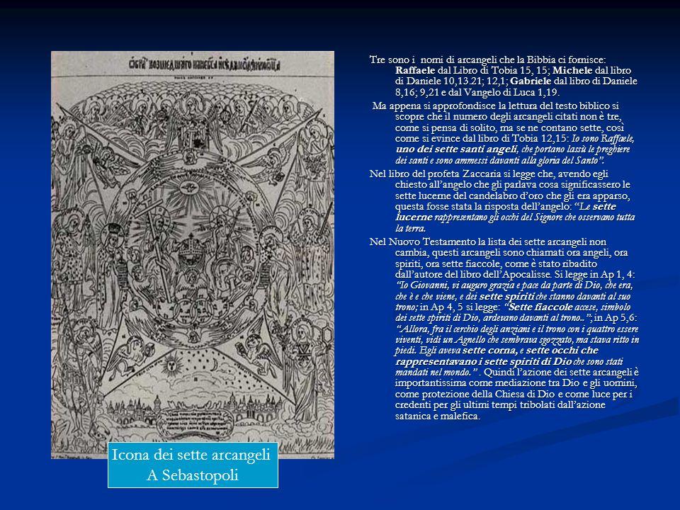 Tre sono i nomi di arcangeli che la Bibbia ci fornisce: Raffaele dal Libro di Tobia 15, 15; Michele dal libro di Daniele 10,13.21; 12,1; Gabriele dal