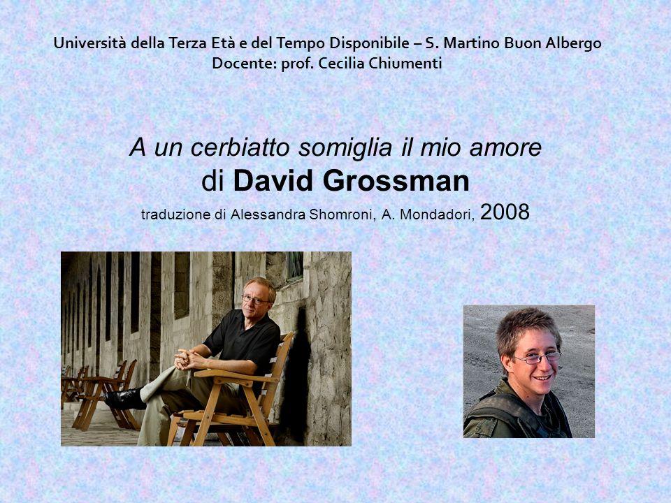 A un cerbiatto somiglia il mio amore di David Grossman traduzione di Alessandra Shomroni, A.