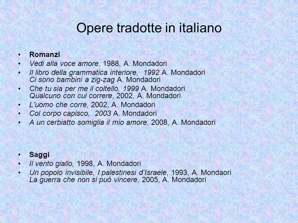 Opere tradotte in italiano Romanzi Vedi alla voce amore, 1988, A.