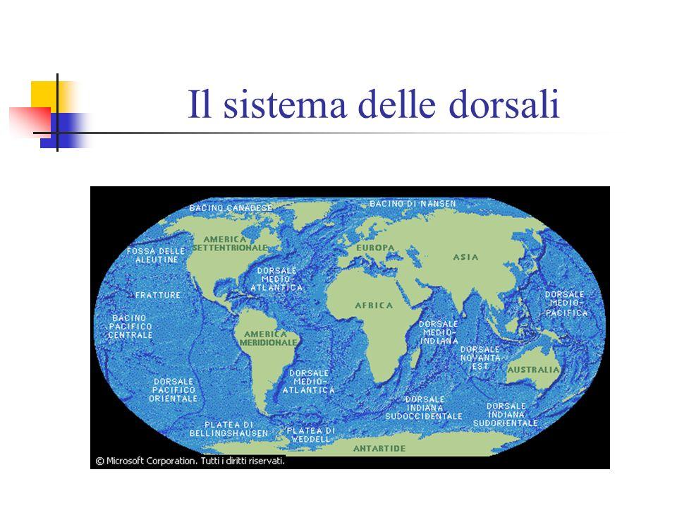La grande dorsale La dorsale medio-oceanica è la più grande catena montuosa della Terra e si snoda sinuosamente attraverso tutti gli oceani del mondo.