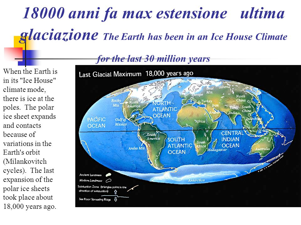 14 Ma medio miocene The World Assumes a Modern Configuration 20 million years ago, Antarctica was coverd by ice and the northern continents were cooli