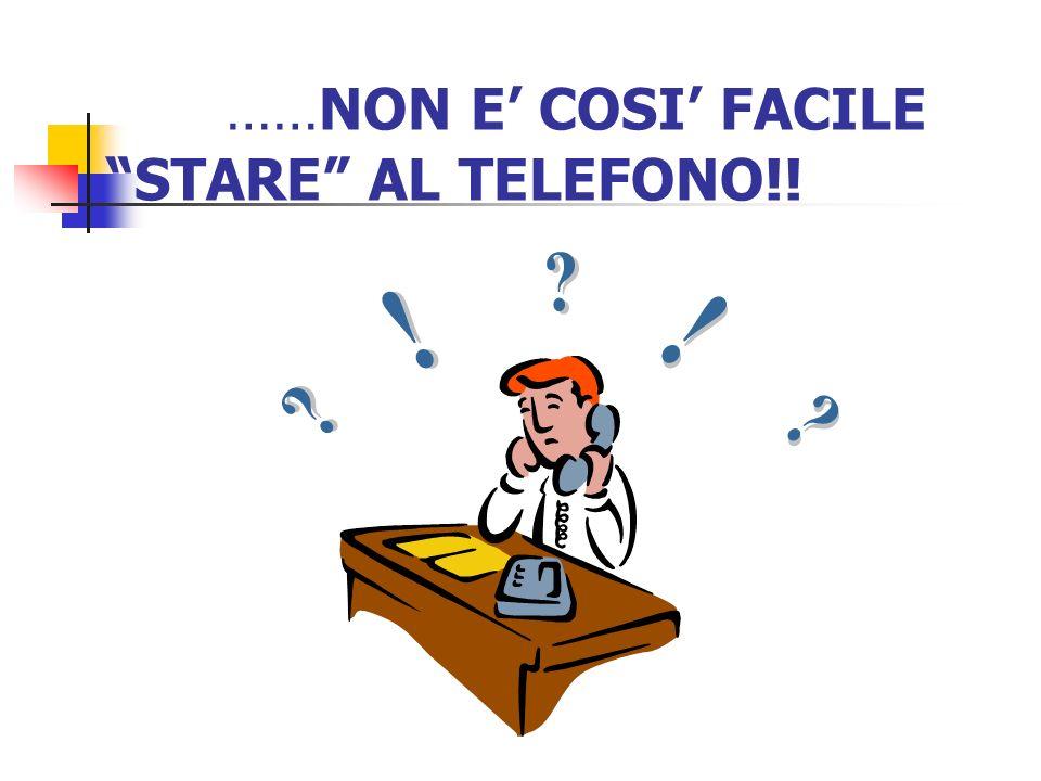 ……NON E COSI FACILE STARE AL TELEFONO!!