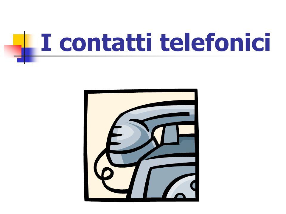 I contatti telefonici