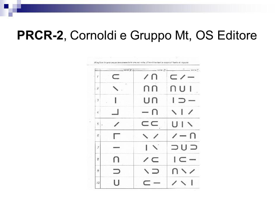 PRCR-2, Cornoldi e Gruppo Mt, OS Editore