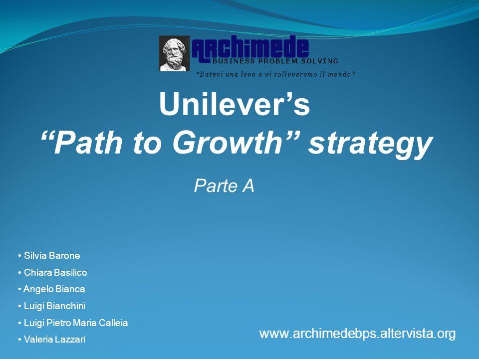 Unilevers Path to Growth strategy Parte A Silvia Barone Chiara Basilico Angelo Bianca Luigi Bianchini Luigi Pietro Maria Calleia Valeria Lazzari www.a