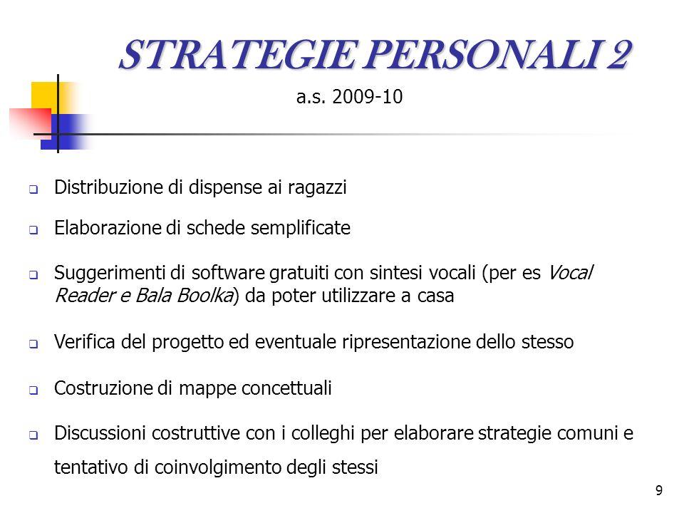 9 STRATEGIE PERSONALI 2 a.s.