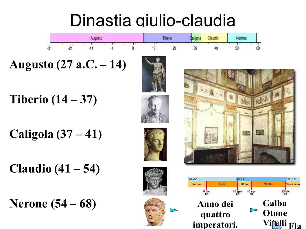 Dinastia giulio-claudia Augusto (27 a.C.