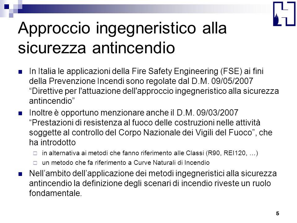 Approccio ingegneristico alla sicurezza antincendio In Italia le applicazioni della Fire Safety Engineering (FSE) ai fini della Prevenzione Incendi so