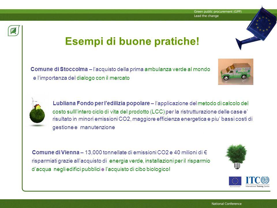 In breve… Gli Appalti Verdi: Contribuiscono al raggiungimento degli obiettivi di sostenibilità ambientale e a risparmiare .