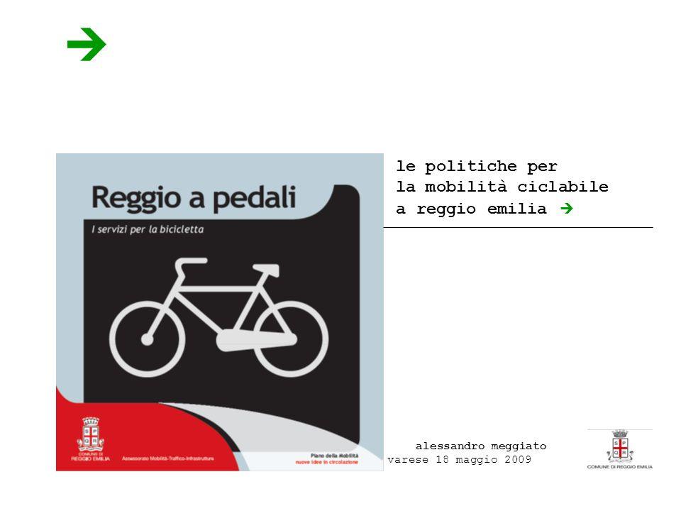 le politiche per la mobilità ciclabile a reggio emilia alessandro meggiato varese 18 maggio 2009