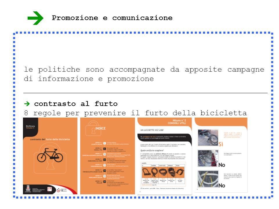 contrasto al furto 8 regole per prevenire il furto della bicicletta le politiche sono accompagnate da apposite campagne di informazione e promozione Promozione e comunicazione
