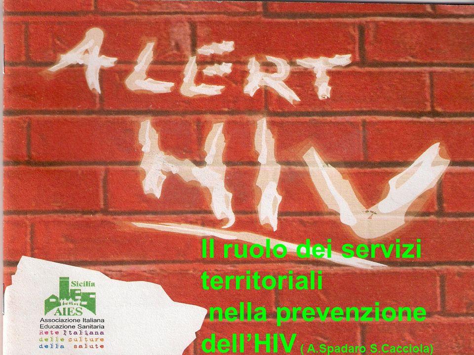 Il ruolo dei servizi territoriali nella prevenzione dellHIV ( A.Spadaro S.Cacciola)