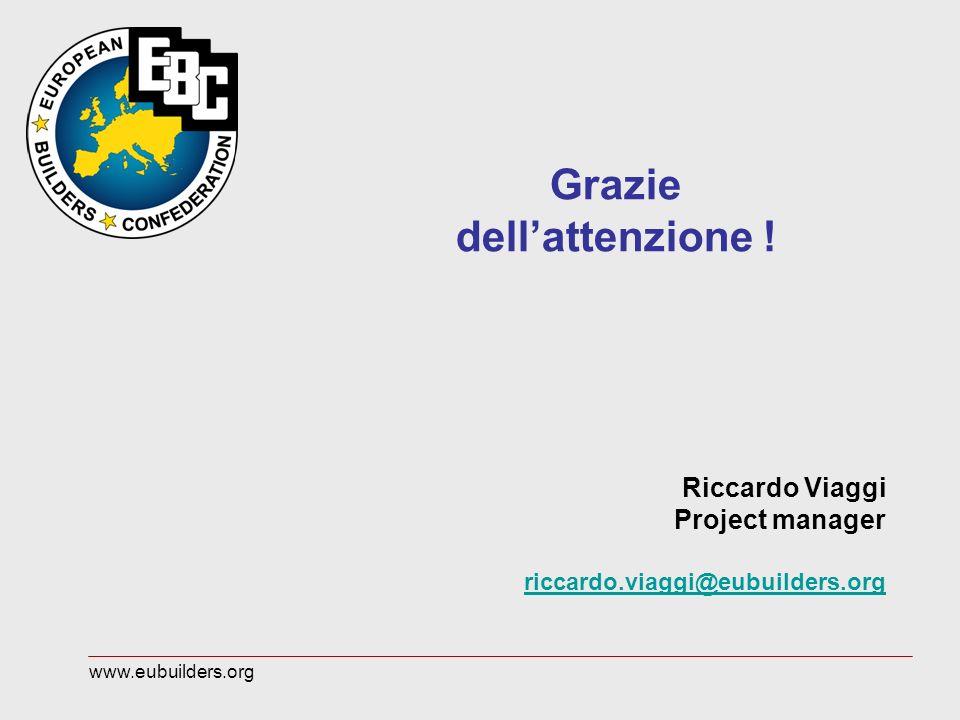 Grazie dellattenzione ! Riccardo Viaggi Project manager riccardo.viaggi@eubuilders.org www.eubuilders.org