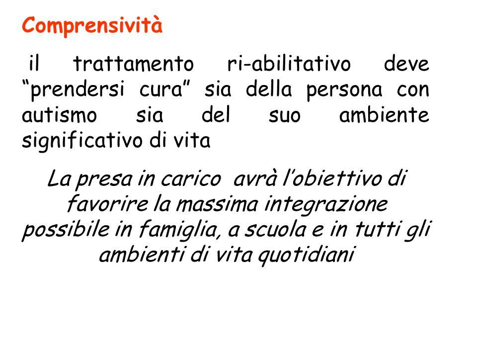 Oltre alla precocità, il trattamento deve possedere le seguenti caratteristiche: -Comprensività -Estensività -Flessibilità