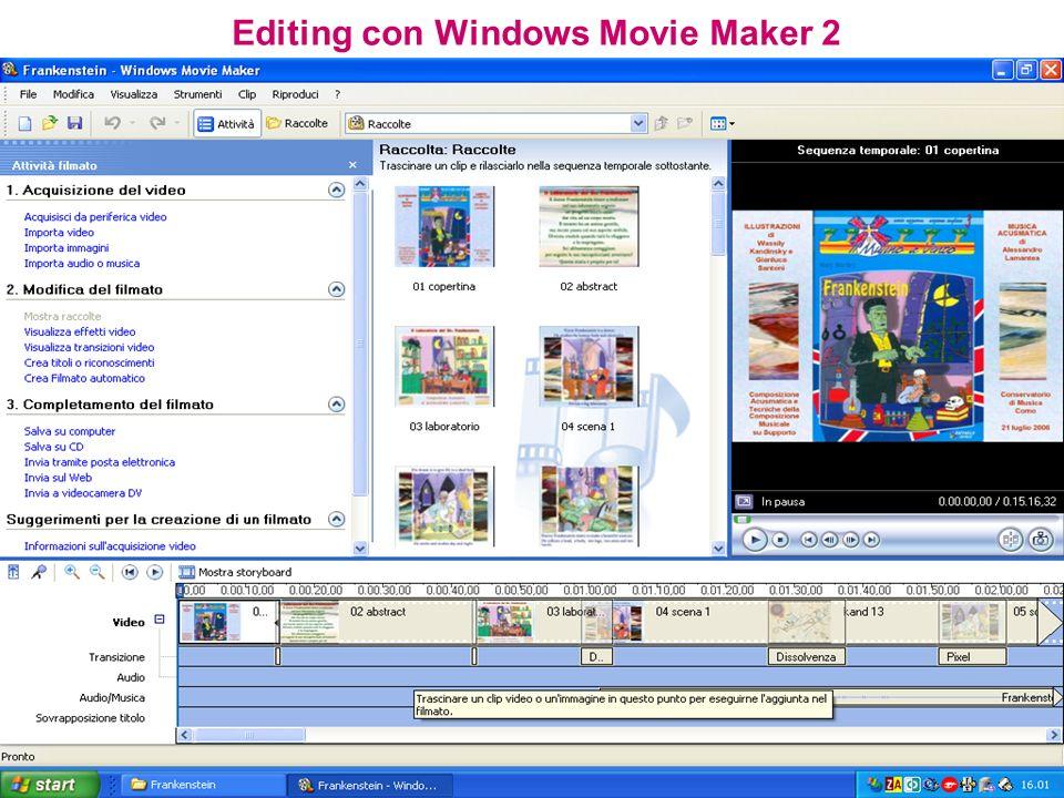 Editing con Windows Movie Maker 2