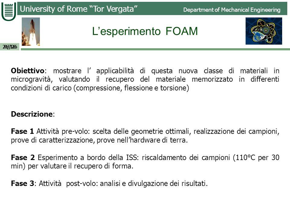 Università of Roma Tor Vergata Dipartimento di Ingegneria Industriale Esempi Recovery