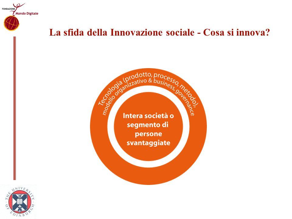 La sfida della Innovazione sociale - Cosa si innova?