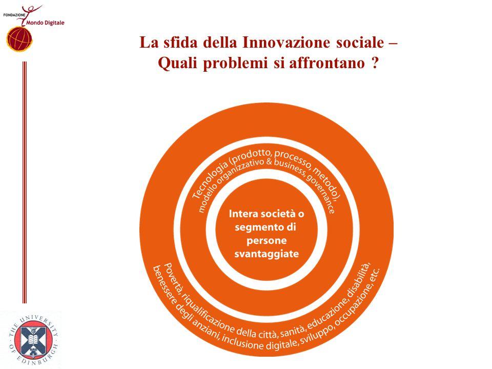 La sfida della Innovazione sociale – Quali problemi si affrontano ?