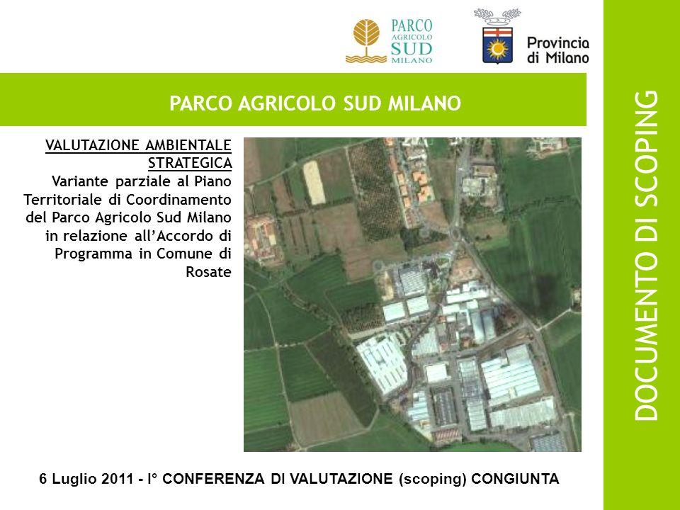 PARCO AGRICOLO SUD MILANO ACCORDO DI PROGRAMMA PER LAMPLIAMENTO DELLINSEDIAMENTO PRODUTTIVO SCHATTDECOR S.R.L.