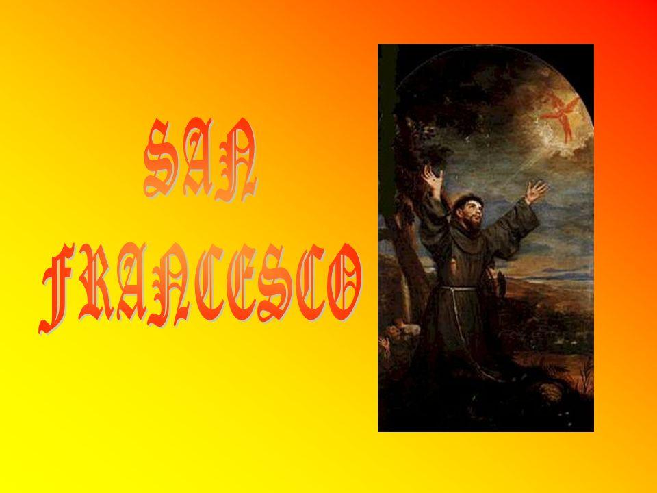 Francesco nacque ad Assisi nel 1182 da una ricca famiglia di mercanti di panni.