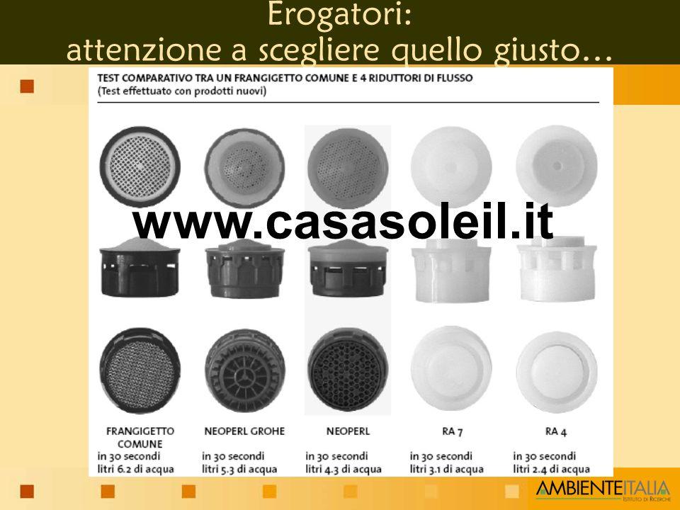 Erogatori: attenzione a scegliere quello giusto… www.casasoleil.it