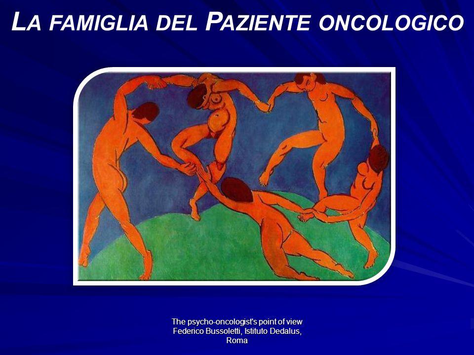 The psycho-oncologist s point of view Federico Bussoletti, Istituto Dedalus, Roma L A FAMIGLIA DEL P AZIENTE ONCOLOGICO
