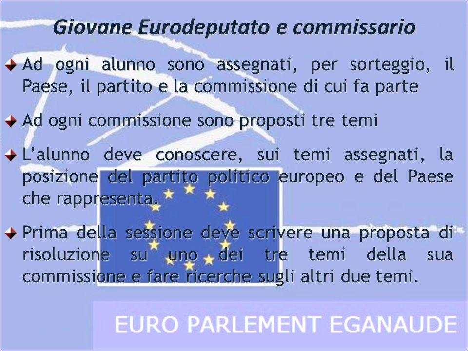 Cinque commissioni parlamentari Le venti commissioni dellParlamento Europeo sono state raggruppate in cinque commissioni : Affari Esteri e Difesa Ambiente, Sviluppo Sostenibile e Salute Industria, Agricoltura e Sviluppo Regionale Educazione, Cultura, Giustizia e Diritti dellUomo Economia, Finanze e Commercio internazionale