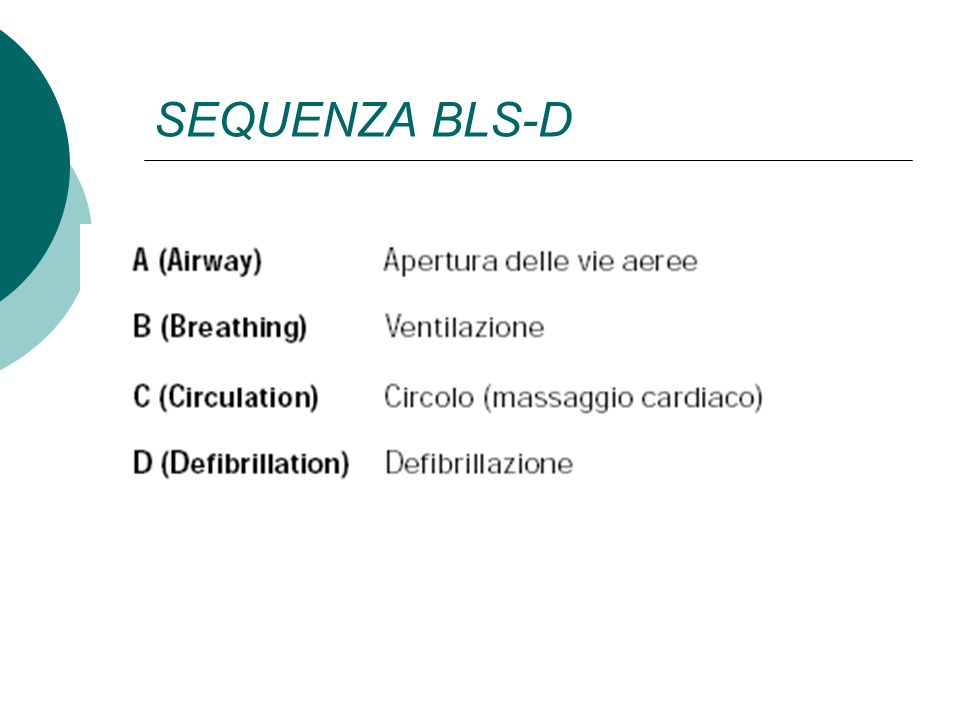 SEQUENZA BLS-D