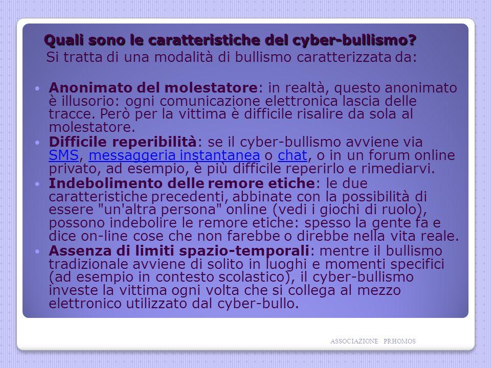 Quali sono le caratteristiche del cyber-bullismo.Quali sono le caratteristiche del cyber-bullismo.