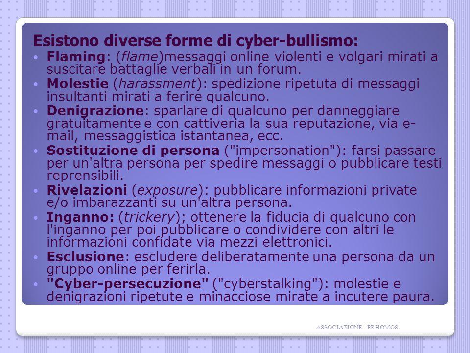Esistono diverse forme di cyber-bullismo: Flaming: (flame)messaggi online violenti e volgari mirati a suscitare battaglie verbali in un forum.