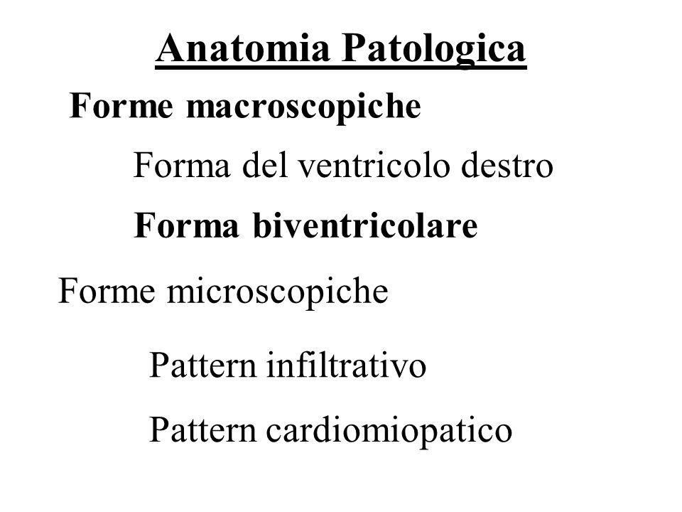 Anatomia Patologica 14/69 Forme microscopiche Forme macroscopiche Forma del ventricolo destro Ruolo della Biopsia endomiocardica Pattern infiltrativo
