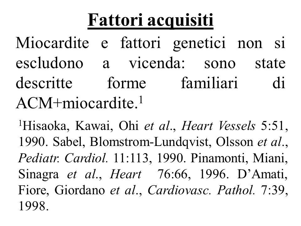 1 Hisaoka, Kawai, Ohi et al., Heart Vessels 5:51, 1990. Sabel, Blomstrom-Lundqvist, Olsson et al., Pediatr. Cardiol. 11:113, 1990. Pinamonti, Miani, S