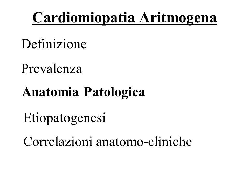 Anatomia Patologica 7/69 Forme microscopiche Forme macroscopiche Forma del ventricolo destro Ruolo della biopsia endomiocardica Pattern infiltrativo Forma biventricolare Pattern cardiomiopatico