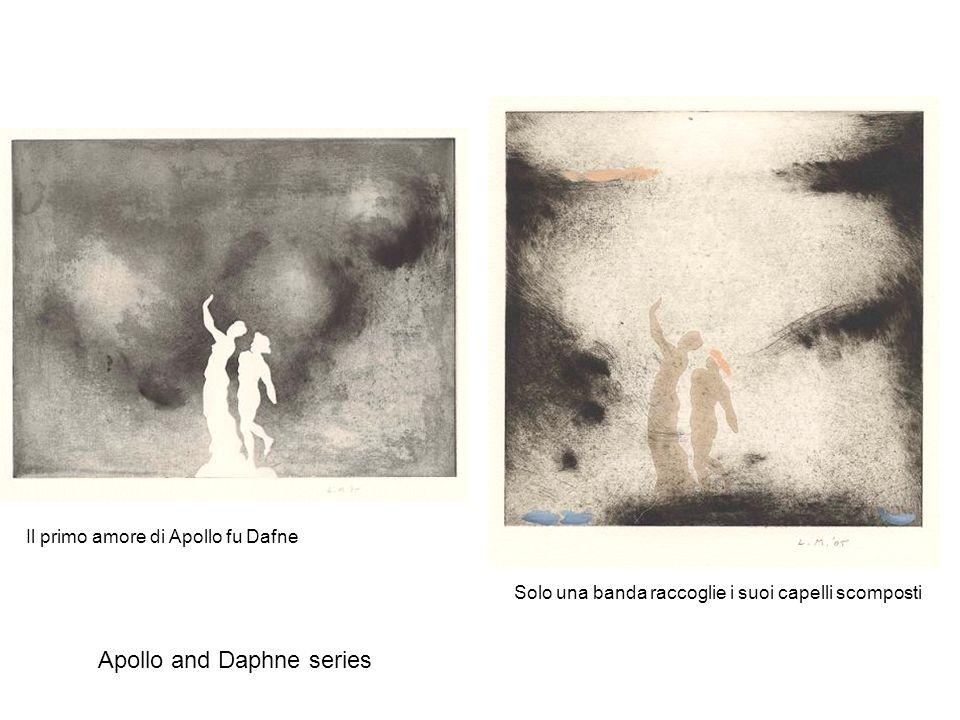 Il primo amore di Apollo fu Dafne Solo una banda raccoglie i suoi capelli scomposti Apollo and Daphne series