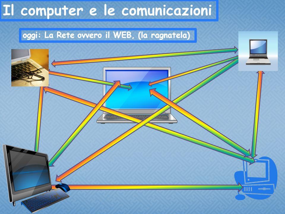 Il computer e le comunicazioni oggi: La Rete ovvero il WEB, (la ragnatela)