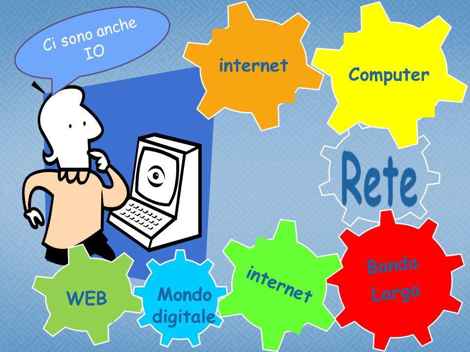 Banda Larga internet Computer internet WEB Mondo digitale C i s o n o a n c h e I O