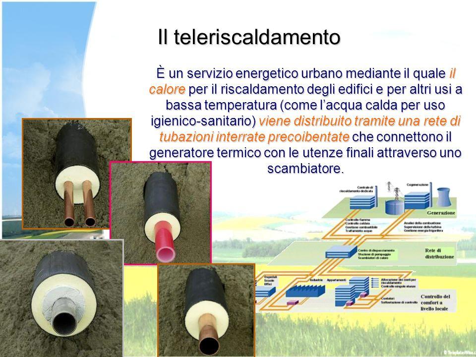 È un servizio energetico urbano mediante il quale il calore per il riscaldamento degli edifici e per altri usi a bassa temperatura (come lacqua calda