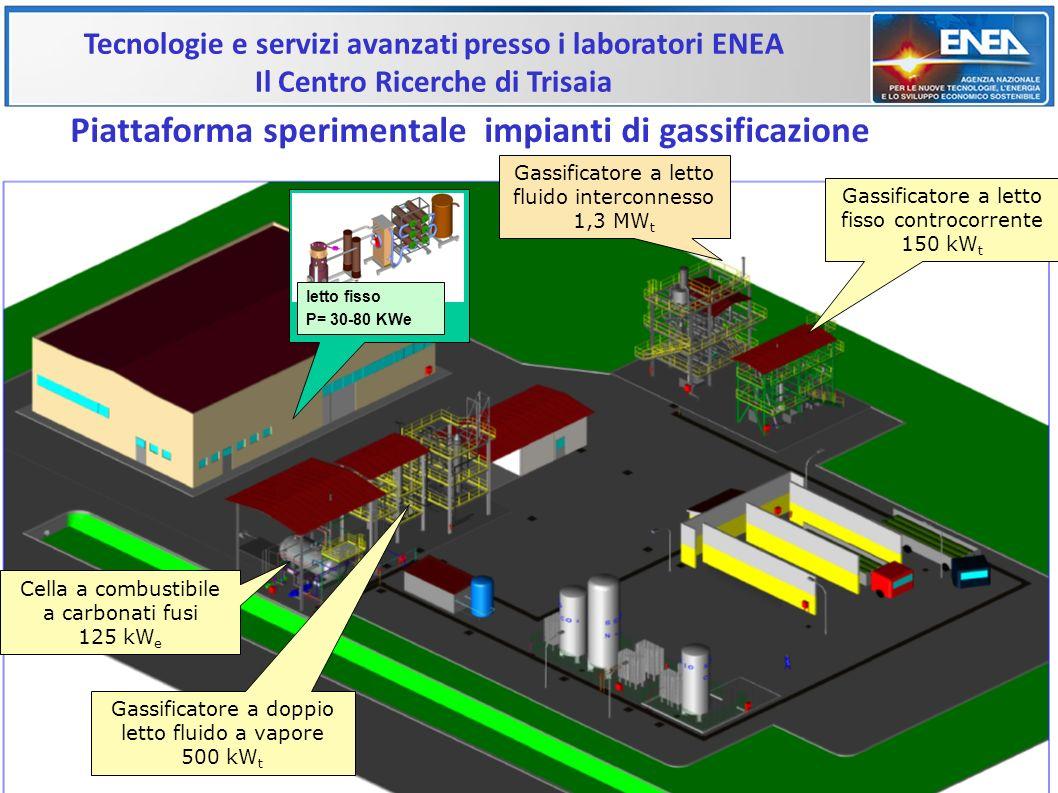 Tecnologie e servizi avanzati presso i laboratori ENEA Il Centro Ricerche di Trisaia Piattaforma sperimentale impianti di gassificazione letto fisso P