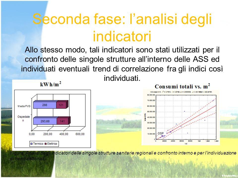 Seconda fase: lanalisi degli indicatori Allo stesso modo, tali indicatori sono stati utilizzati per il confronto delle singole strutture allinterno de