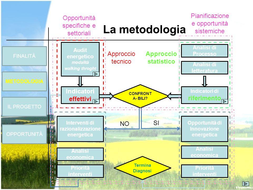 FINALITÀ METODOLOGIA OPPORTUNITÀ La metodologia IL PROGETTO CONFRONT A- BILI? Termina Diagnosi Approccio tecnico Approccio statistico Interventi di ra