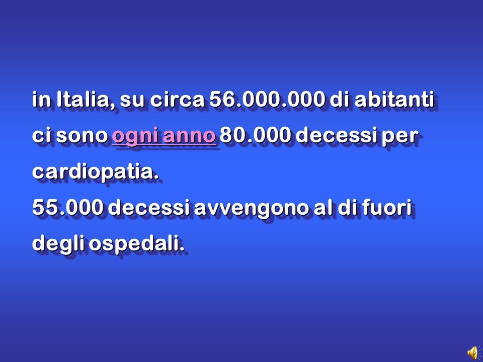 in Italia, su circa 56.000.000 di abitanti ci sono ogni anno 80.000 decessi per cardiopatia.