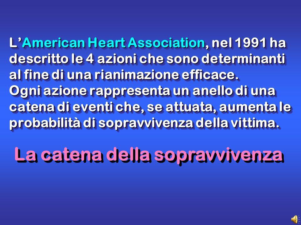 LAmerican Heart Association, nel 1991 ha descritto le 4 azioni che sono determinanti al fine di una rianimazione efficace.