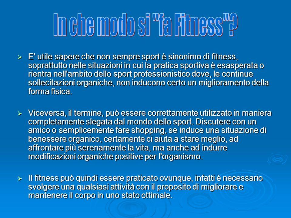 E' utile sapere che non sempre sport è sinonimo di fitness, soprattutto nelle situazioni in cui la pratica sportiva è esasperata o rientra nell'ambito