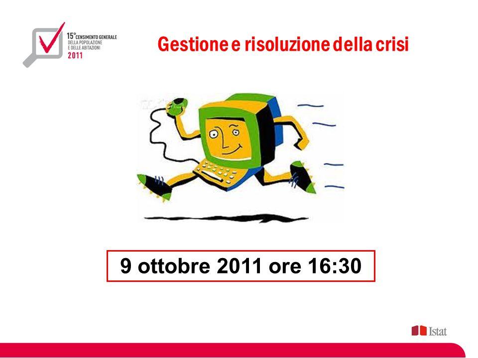 Gestione e risoluzione della crisi 9 ottobre 2011 ore 16:30