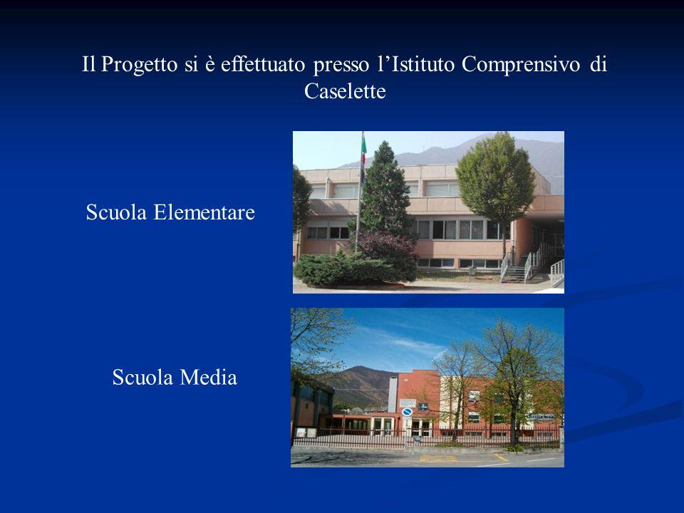 Il Progetto si è effettuato presso lIstituto Comprensivo di Caselette Scuola Elementare Scuola Media
